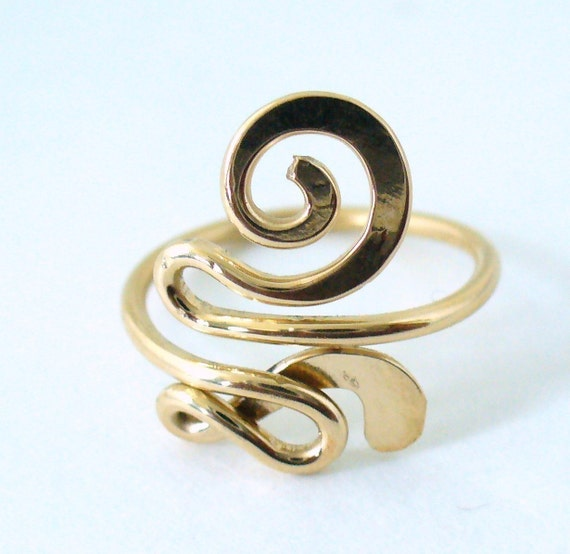 Gold Toe Ring 12k Gold Filled Snazzy Toe Ring