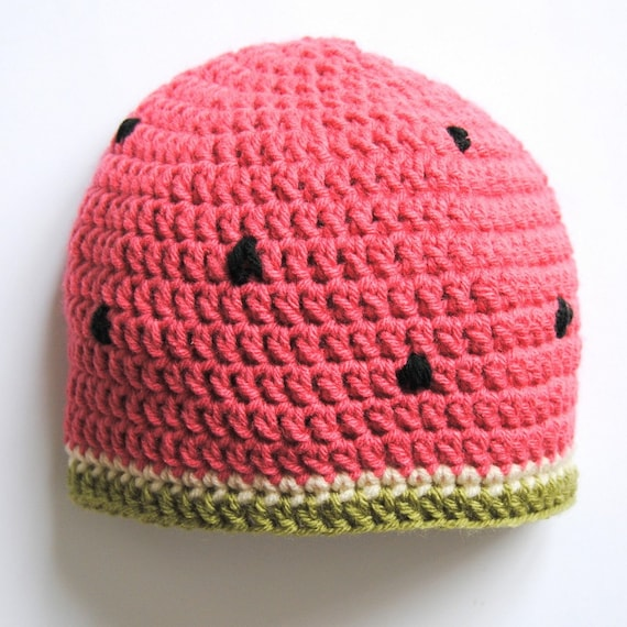 Round Loom Knitting Patterns Hats : Items similar to PDF Pattern for Baby and Child Watermelon ...