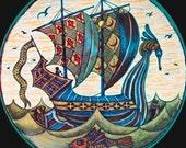 Victorian Cross Stitch/ Needlepoint PDF Pattern Chart WILLIAM DE MORGAN SHIP