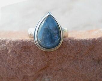 Kyanite Teardrop Ring