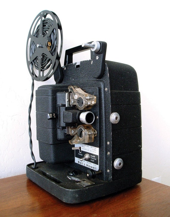 Vintage Film Projector - Bell and Howell - Model 256 - 8mm Projector