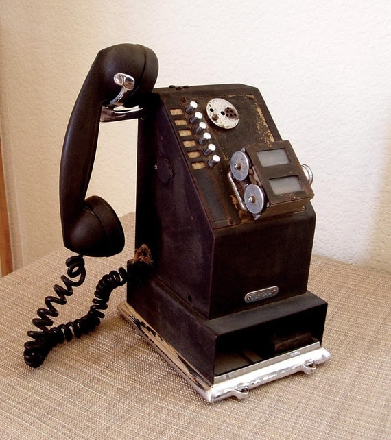 Vintage Stamping Phone - National Cash Register