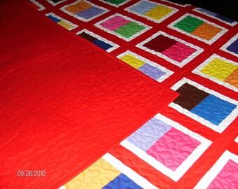 Stage Door Pattern Patchwork Quilt