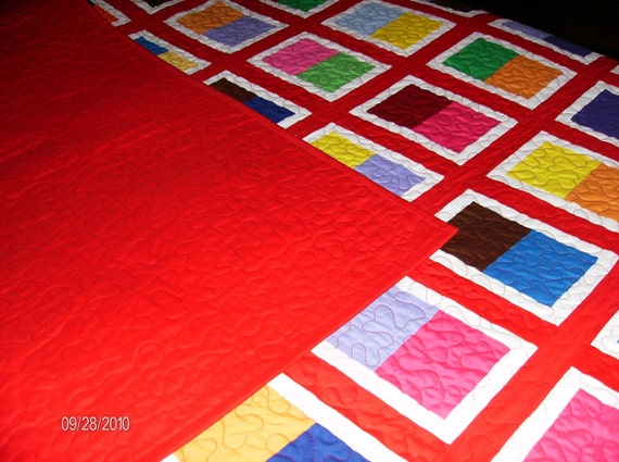 Stage Door Pattern Patchwork Quilt