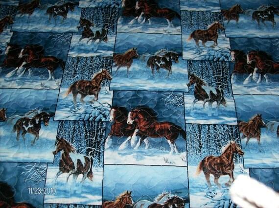 Wild Horses Fabric Queen Quilt