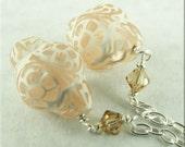 Peach Lace Earrings