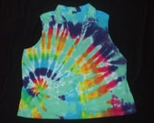 Upcycled Tie Dye Tank Ladies Size 3x Free Shipping in US