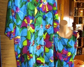 Hawaiian Matching Barkcloth 1960s His & Hers Wedding Set - Bright, Bold, Beautiful