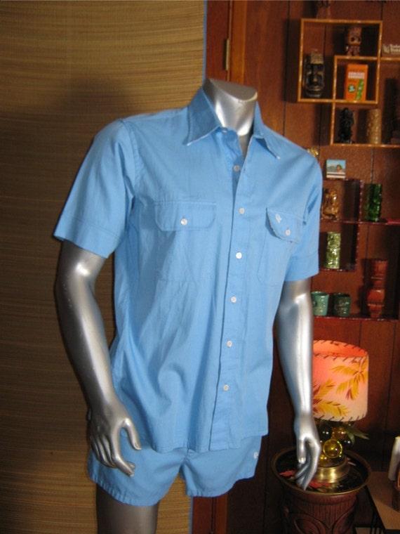 Sale Vintage Mens Christian Dior Cabana Swim Suit And Shirt