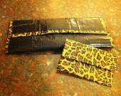 Duct Tape Clutch Wallet (Patterned) With Matching Mini Wallet