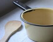 sunshine yellow enamel sauce pan