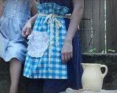 prettiest blue gingham apron