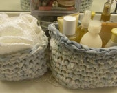 Oval Upcycled Crochet Baskets, Made to Order