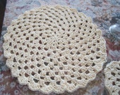 Crochet Placemat/Doily with Matching Coaster