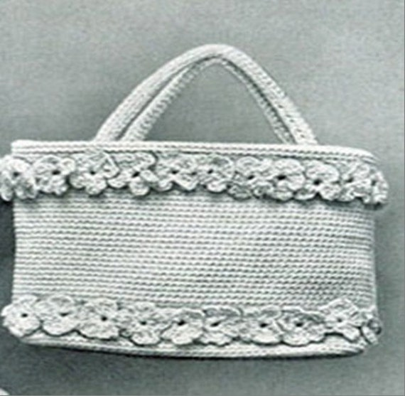 Crochet Bag Pattern Pdf : Vintage Hand Bag Crochet PDF Pattern by WaltzDesignz on Etsy