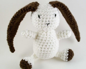 crochet bunny with floppy ears