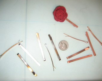 Plain, Wide Bobby Pins in Nickel or Copper DIY Hair Accessories