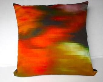 "Fall colors, autumn colours, Decorative pillow throw cushion eco friendly organic cotton cushion  16"" cushion cover, 40cm pillow cover,"