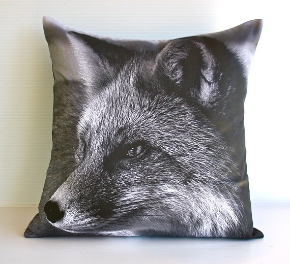 "Animal cushion,animal pillow, fox pillow,FOX cushion,decorative pillow eco friendly organic cotton cushion cover, pillow, 16"", 41cms"