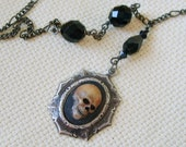 Victorian Gothic REALISTIC Skull Necklace EXCLUSIVE DESIGN, Halloween
