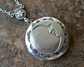 Moon and Stars Enchanted Locket in Silver-EXCLUSIVE DESIGN