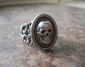 Steampunk Skull Cameo Ring ORIGINAL EXCLUSIVE DESIGN-Unisex-Steampunk Chic