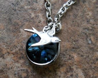 Nightengale Montana Blue Swarovski Rivoli Necklace