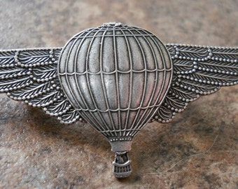 Steampunk Air Balloon Flight Attendant Lapel Pin EXCLUSIVE DESIGN by Enchanted Lockets Only, Unisex Styling