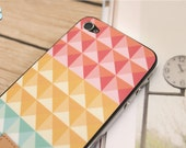 iPhone 5 / 4S / 4 Vinyl Decal Cover with Mod Multi-color Studs Design