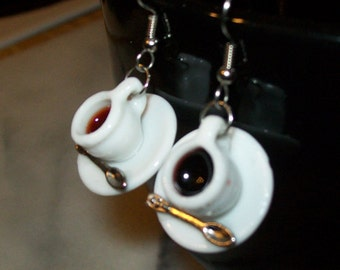 Piping Hot Coffee Cups Earrings