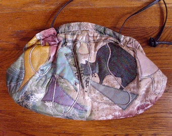 Crazy Quilted 80s Purse