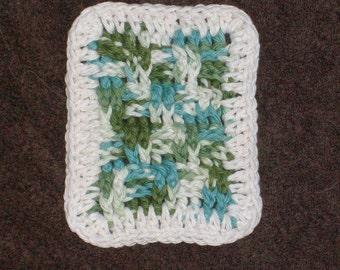 Mug Rug. Hand crocheted. 100% cotton