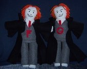 Harry Potter inspired dolls, Weasley Twins characters, Fred and George Weasley