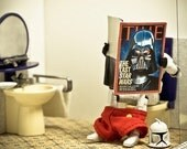 "Bathroom Wall Art - Funny Bathroom Decor - Toy Photography -  ""Recession Times"""