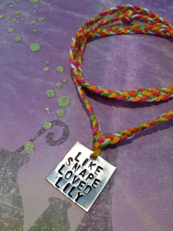 RESERVED for BreezyDarling- Like Snape Loved Lily.. Necklace or Wrap Bracelet