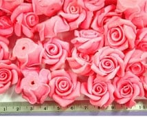 Miniature Roses Mini Flowers Polymer Clay Supplies 20 pcs