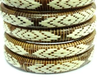 Inaneiepr, weaving natural fiber bracelet, set of 2 pcs