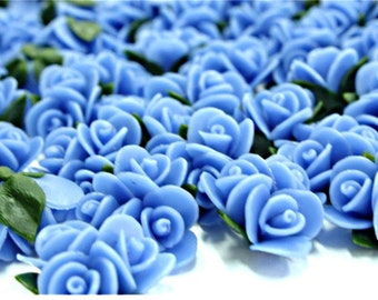 Miniature Roses Polymer Clay Flowers Supplies, set of 6 pcs