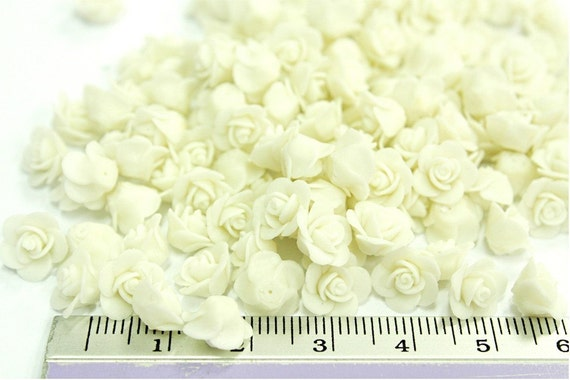 Miniature Roses Polymer Clay Flowers & Beads Supplies 24 pieces