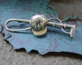 Cap  Horse Crop / Whip Pin/Brooch,Equestrian Sterling Silver