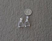 Stirrup Horse Stud Earrings,Equestrian Jewelry,Stirrup Jewelry