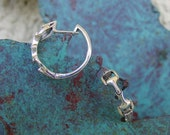 Snaffle Bit Horse Earrings  .925 Sterling Silver Great Detail Equestrian Jewelry