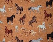 Custom Listing for Doris Horse- Mares & Foals - Forest Horses  Makower UK cotton fabric 20 Yards