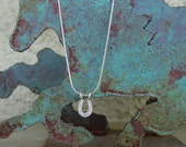 Equestrian CZ  Small Horse Shoe Necklace