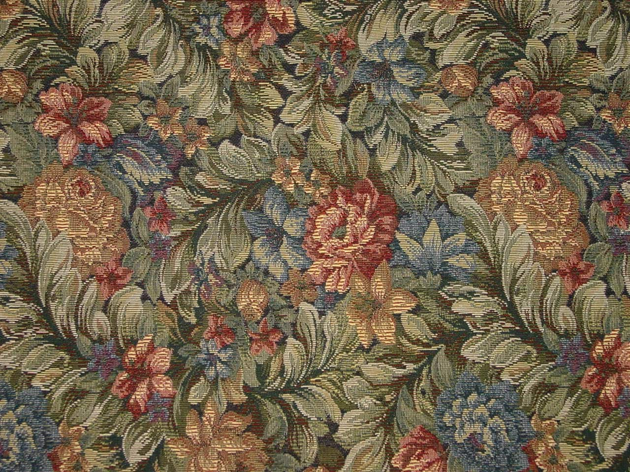 Wonderful Flowers Tapestry Fabric