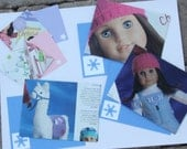 Set of 5 Notecards and Recycled Envelopes American Girl Doll Chrissa