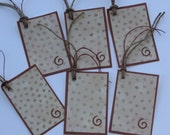 Rust Fall Color Tags Set of 6