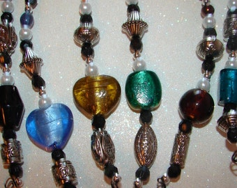 Wire Wrap Wine Glass Charms Colorful