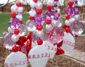 Cupcakes and Candy Tablecloth Weights Set of 4