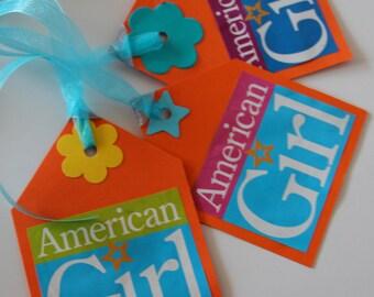 American Girl Gift Tags set of 8
